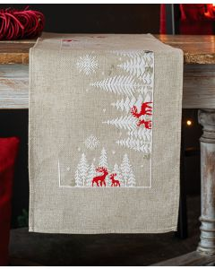 Vervaco tafelkleed winter in het bos borduren met telpatroon pn-0166617