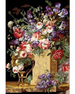 Voorbedrukte stramien corbeille et vase de fleurs van Seg de Paris 933.14