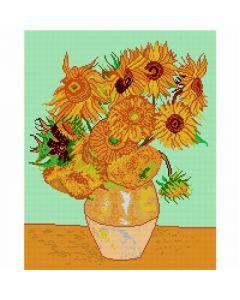 Voorbedrukte stramien Sunflowers van Vincent van Gogh Orchidea 1426M