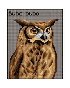 Voorbedrukte stramien Uil Bubo Bubo Orchidea 3016H