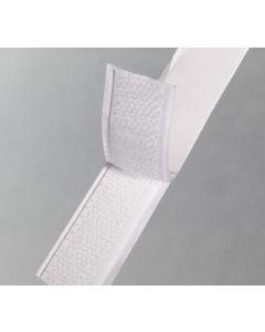 Zelfklevend wit klittenband