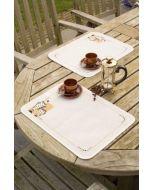 Borduurpakket placemats thee en koffie Vervaco pn-0147512
