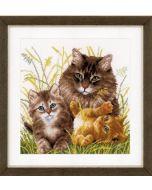 Vervaco borduurpakket Kattenfamilie pn-0156114 borduren