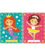 Borduurpakket 2 Borduurkaarten Ballerina en zeemeermin zeer makkelijk om te borduren.  Vervaco pn-0157765