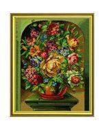 Borduurpakket Bloemen in pot van Eva Rosenstand met telpatroon op linnen 12-531p
