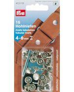 Prym holle nieten voor materiaaldikte 4-6 mm, 9mm zilver 20 stuks