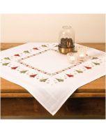 Borduurpakket kerstkleedje kerstbomen voorbedrukt kruissteek van Rico 25903.00.68