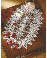 Haakpakket ovaal kleedje van bloemenvorm van DMC