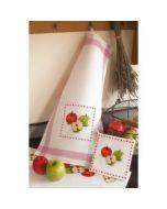 Keukenhanddoek appels om te borduren