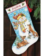 Dimensions borduurpakket Kerstsok Wintervrienden 70-08963 borduren