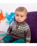 Breipakket babyvest met  jacquardsteek van Phil Soft+ van Phildar