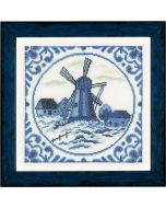 Lanarte borduurpakket delftse windmolen pn-0158328 op aida