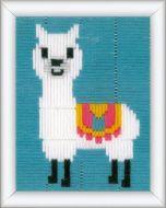 Borduurpakket spansteek Lama voor kinderen vervaco pn-0173595