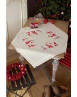 Borduurpakket voorbedrukt tafelkleed Kerstkaboutertjes om te borduren van Vervaco PN-0155211