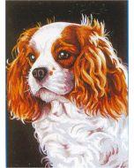 Voorbedrukt stramien/canvas van le cavalier king charles van Margot 72.2262