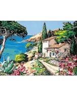 Seg de Paris Voorbedrukt stramien/canvas huis aan het water 929.269 borduren