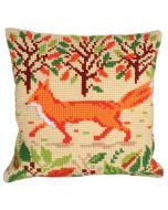 Voorbedrukt kruissteek Kussenpakket Red Fox  Collection d'Art als borduurpakket 5215