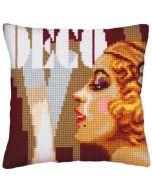 Voorbedrukt kruissteek Kussenpakket Art Deco II  Collection d'Art als borduurpakket 5236