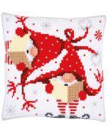 co kruissteek borduurkussen zingende kerstkabouters borduren pn-0164611