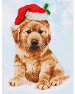 Diamond Dotz Christmas Lab - kerst hond dd5.010