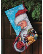Borduurpakket Kerstsok kerstman dimensions voorbedrukt 72-09145