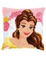 Borduurpakket Disney Enchanted Beauty Belle kruissteekkussen  voorbedrukt Vervaco pn-0168010