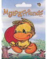 Mylo & Friends kuiken met hart applicatie