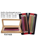Breinaaldenset KnitPro Zing 2.5-6.0mm, 40cm lang