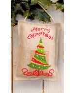 kerstboom is  een half geconfectioneerd telpakket met ophangkoordje