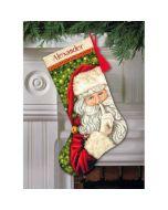 Borduurpakket Kerstsok Geheim van de Kerstman - Secret Santa Stocking