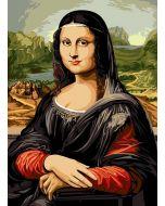 Voorbedrukt stramien/canvas de jaconde Léonoard de Vinci  van Seg de Paris 929.607 om te borduren