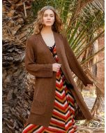 Lana Grossa dames vest breien van Solo Lino Melange