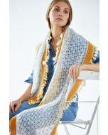 Lana Grossa sjaal haken van Silkhair uit Doeken en Co Nr.4