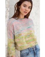 Lana Grossa trui breien van Silkhair Hand dyed