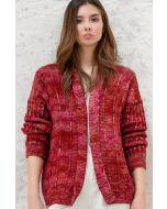 Lana Grossa vest breien van Cool Wool Big hand-dyed (m9)