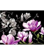Voorbedrukt canvas/stramien Magnolias for Ever om te borduren van Margot 133.3514