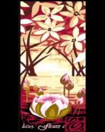 Voorbedrukte canvas Lotus fleurs om te borduren (stramien)