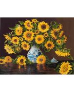 Diamond Dotz Sunflowers in a china vase - zonnebloemen in vaas  DD13.006