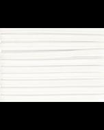 Mondkapjes elastiek kopen? Plat elastiek wit, 5mm breed