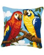 Borduurpakket papegaaien kruissteekkussen vervaco pn-0008570  voorbedrukt