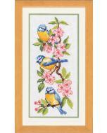 Borduurpakket Vogels op bloesems telwerk van Vervaco  PN-0011832