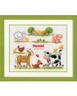 Vervaco borduurpakket geboortetegel Boerderijdieren (daniel) pn-0011894