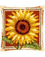 Borduurpakket kruissteekkussen zonnebloem om te borduren van vervaco  pn-0021767