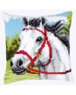 Vervaco kruissteekkussen wit paard pn-0144434