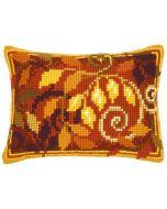 Vervaco borduurpakket kruissteekkussen herfstbladeren pn-0145342