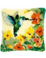 Knooppakket knoopkussen  kolibri met bloemen vervaco pn-0146770