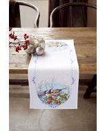 Vervaco borduurpakket aida loper meesjes op tak pn-0147606 met telpatroon
