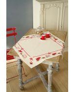 Op de koffie aida tafelkleed met telpatroon Vervaco PN-0149144
