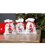 Vervaco borduurpakket 3 kruidenzakjes kerstkabouters pn-0150688 borduren