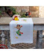 Borduurpakket voorbedrukte loper Kippenfamilie Vervaco PN-0153745